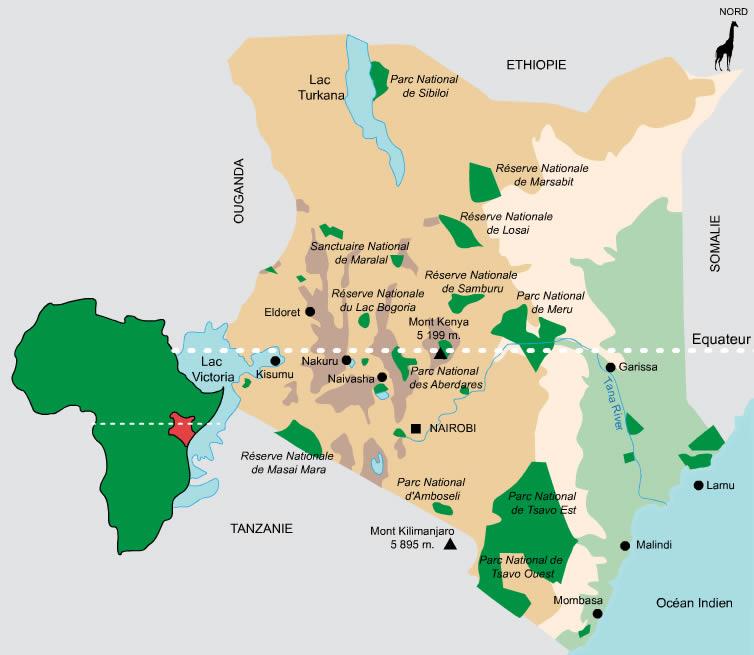 Parcs nationaux et Réserves du Kenya