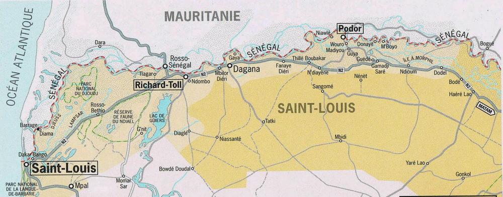 Croisière du Bou el Mogdad sur le fleuve Sénégal