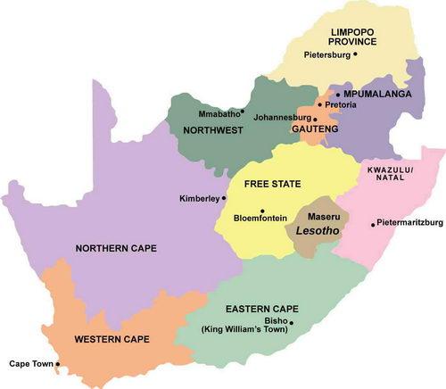 Carte Afrique Du Sud Ouest.Hotels Et Lodges En Afrique Du Sud Afrique Tourisme