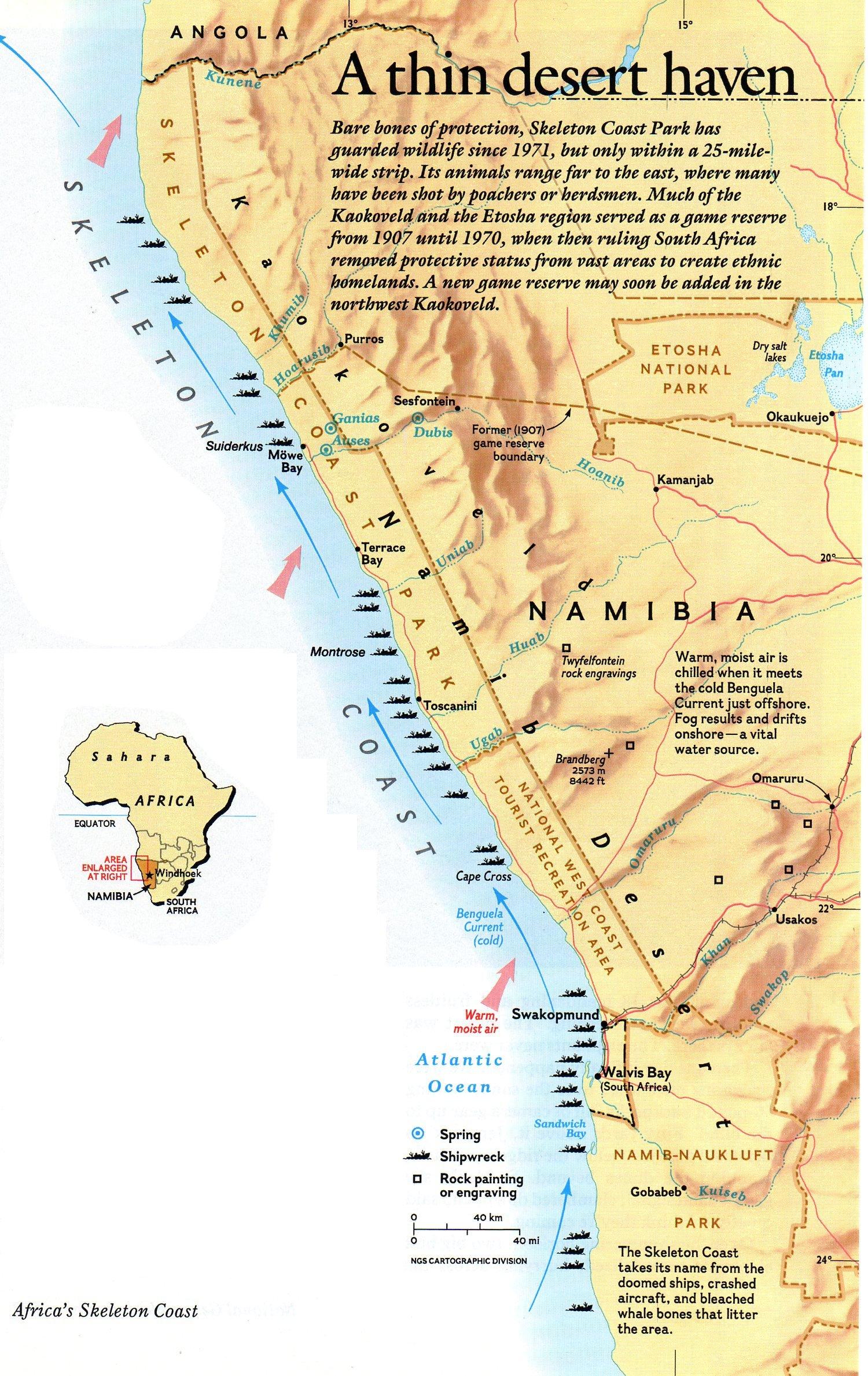 Parc national de la Côte des Squelettes, Namibie