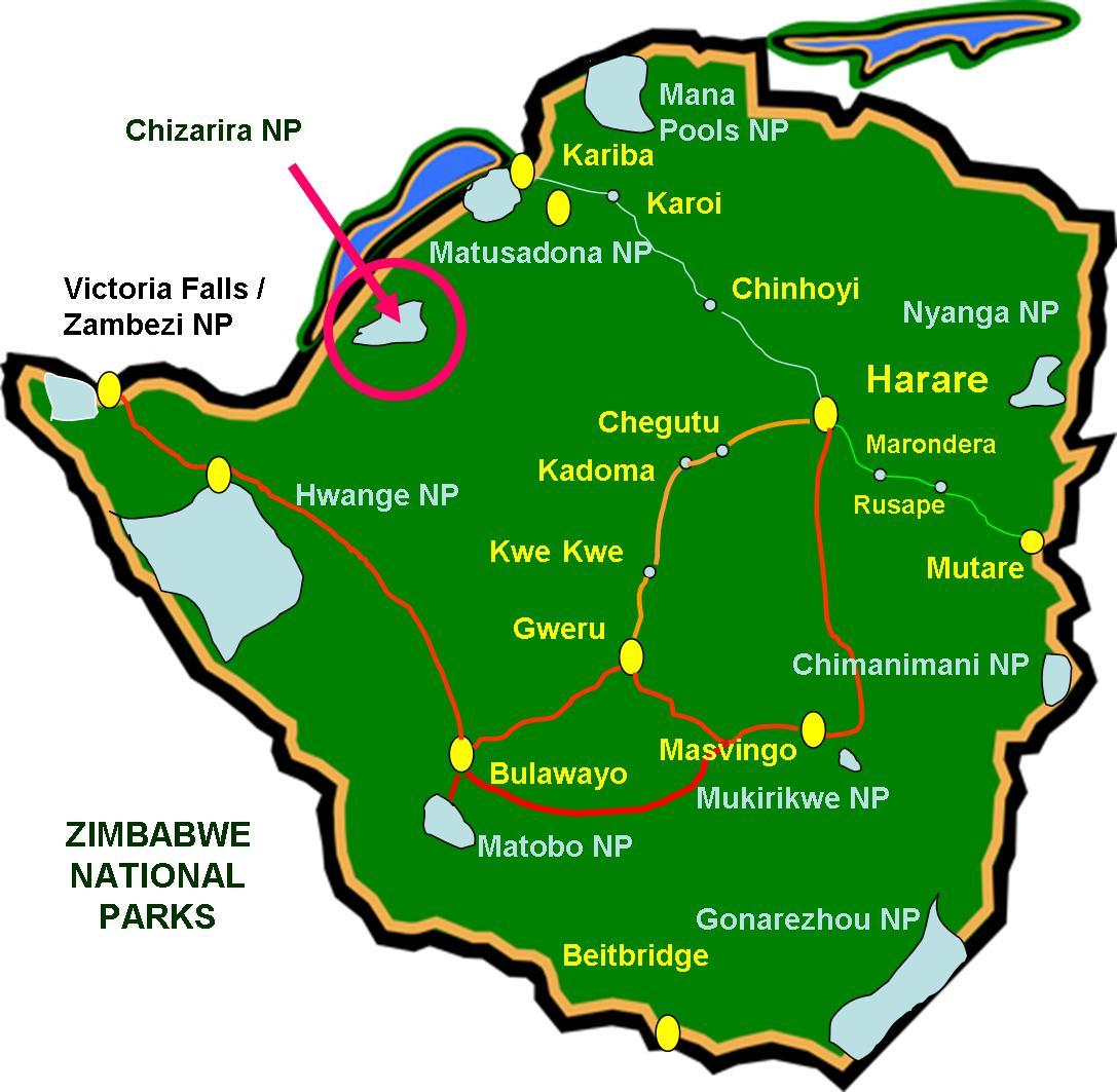 Parc national Chizarira, Zimbabwe
