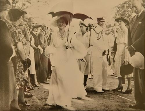 Visite royale en 1947